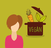 Vegan food design. Illustration eps10 graphic Royalty Free Stock Photography