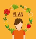 Vegan food design. Illustration eps10 graphic Stock Image