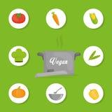 Vegan food design. Royalty Free Stock Image