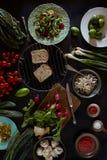 Vegan Food Ingredients Assortment Royalty Free Stock Photo