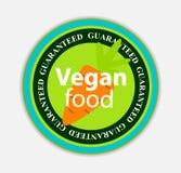 Vegan Food Label Set Vector Illustration. EPS10 Stock Photography