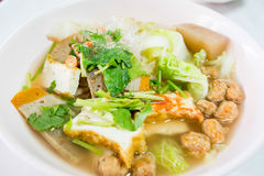 Vegan food popular mำnu in Nine Emperor Gods Festival ( J food ) Royalty Free Stock Photography