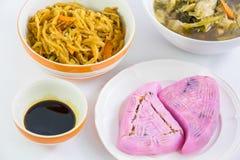 Vegan food popular manu in Nine Emperor Gods Festival Royalty Free Stock Photos