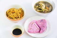 Vegan food popular manu in Nine Emperor Gods Festival Stock Photos