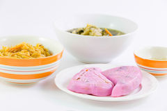 Vegan food popular manu in Nine Emperor Gods Festival ( J food ) Royalty Free Stock Image
