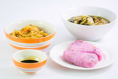 Vegan food popular manu in Nine Emperor Gods Festival ( J food ) Stock Photos