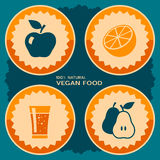 Vegan food poster design Royalty Free Stock Image