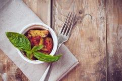 Vegan food: roasted vegetables stock photos