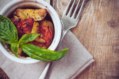 Vegan food: roasted vegetables Royalty Free Stock Image