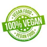 Vegan food round green grunge stamp badge. Eps10 royalty free illustration