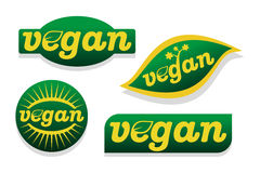 Vegan food symbol Royalty Free Stock Image