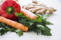 Vegan food on white Royalty Free Stock Image