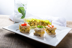 Vegan Garbanzo appetizers Royalty Free Stock Photos