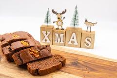 Vegan and Gluten-free Buckwheat Sorghum Oats bread cake. Christmas
