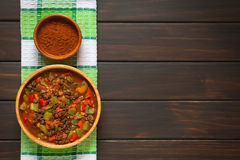 Vegan Goulash with Soy Meat Royalty Free Stock Photography
