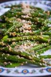 Vegan green bean salad Stock Image