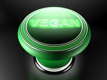 Vegan green pushbutton - 3D rendering Royalty Free Stock Image