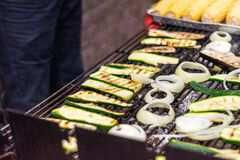 Free Vegan Grilled. Barbeque. BBQ Vegetables Royalty Free Stock Photos - 190998288