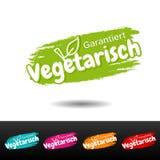 Vegan guarantee Banner set - German Translation: Garantiert vegetarisch. Eps10 Vector vector illustration