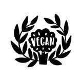 Vegan hand drawn illustration Royalty Free Stock Images