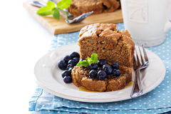 Vegan healthy apple carrot sweet bread Royalty Free Stock Photography