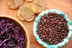 Vegan , healthy food: red beans pate for a healthy lunch Royalty Free Stock Photo