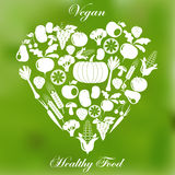 Vegan healthy organic food Royalty Free Stock Images