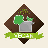 Vegan icon  design Royalty Free Stock Photography