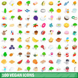 100 vegan icons set, isometric 3d style. 100 vegan icons set in isometric 3d style for any design vector illustration Royalty Free Stock Photo