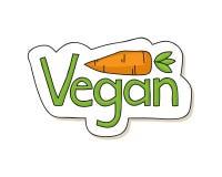 Vegan label Royalty Free Stock Photo