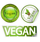 Vegan label set Royalty Free Stock Images