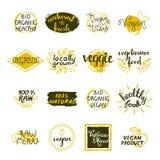 Vegan Labels Set Stock Image