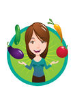 Vegan Lady Vector Stock Photos