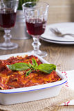 Vegan lasagna with tofu Stock Photos