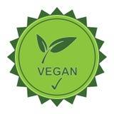 Vegan logo Royalty Free Stock Images