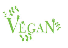 Vegan logo Stock Photography