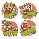Vegan logo Stock Photography