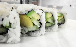Vegan maki rolls Stock Photos