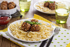 Vegan meatballs made with beans Stock Images