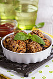 Vegan meatballs made with beans Royalty Free Stock Photos