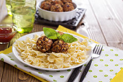 Vegan meatballs made with beans Royalty Free Stock Photo
