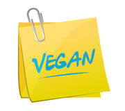 vegan memo post. illustration design Stock Photography