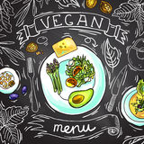 Vegan menu Royalty Free Stock Image