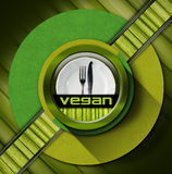 Vegan Menu Design Stock Images