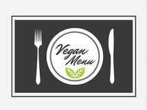 Vegan Menu Design Graphic Vector Illustration Flat Stock. Vegan Menu Food Bio - Vegan Food Stock Photography