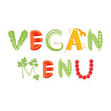 Vegan menu letter Stock Image