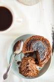Vegan muffins with carob, honey, raisins and poppy seeds, desser Royalty Free Stock Photography