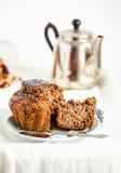 Vegan muffins with carob, honey, raisins and poppy seeds, desser Stock Photography