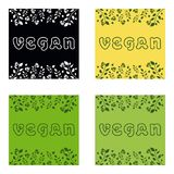 Vegan. Organic Vector round eco, bio green. Logo or sign Royalty Free Stock Images