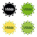 Vegan. Organic Vector round eco, bio green. Logo or sign Royalty Free Stock Photography